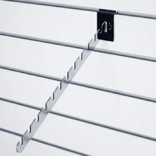 Наклонный держатель с 10-ю выемками L= 400мм, хром/ черный F110 для экономпанелей купеть недорого Екатеринбург