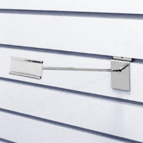Крючок с ценникодержателем L=300 мм, хром F283 для экономпанелей купеть недорого Екатеринбург