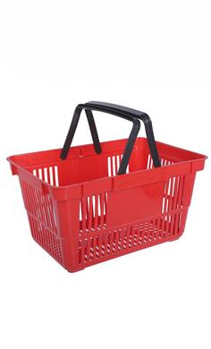Корзина покупательская, пластик (20л) для магазина супермаркета купить недорого